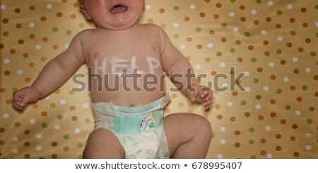 újszülött segítség írott mellkas sír szomorúság Stock fotó © IS2