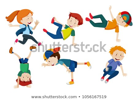 Kids doing different dance positions stock photo © bluering