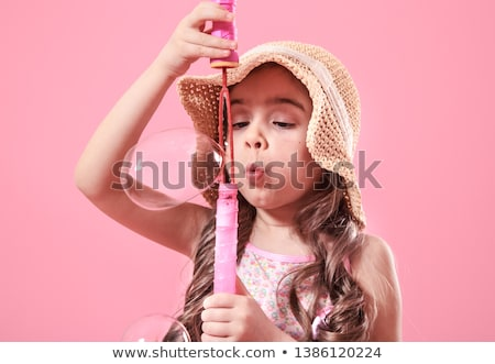 Young girl with bubble wand Stock photo © IS2