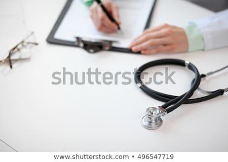 Közelkép sztetoszkóp laptop fehér orvosi fém Stock fotó © wavebreak_media