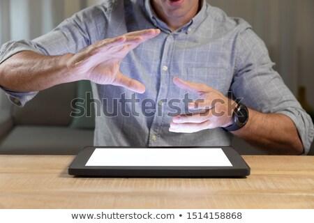 человека футуристический цифровой таблетка Сток-фото © wavebreak_media