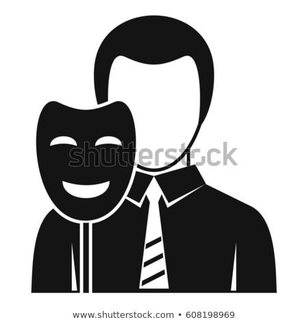 маскировка поддельный личности талисман иллюстрация Сток-фото © lenm