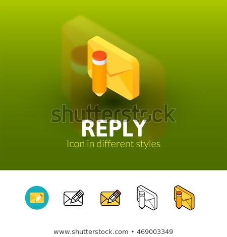 Reply isometric icon, isolated on color background Stock photo © sidmay