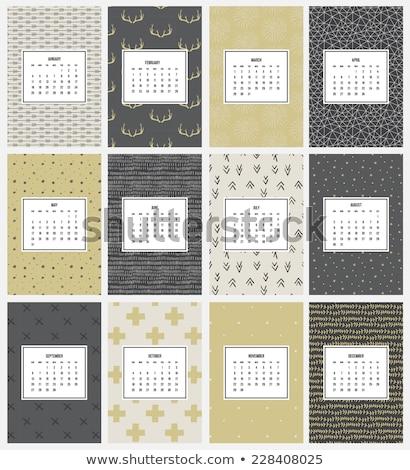 Naadloos goud patroon pijlen zwarte ontwerp Stockfoto © FoxysGraphic