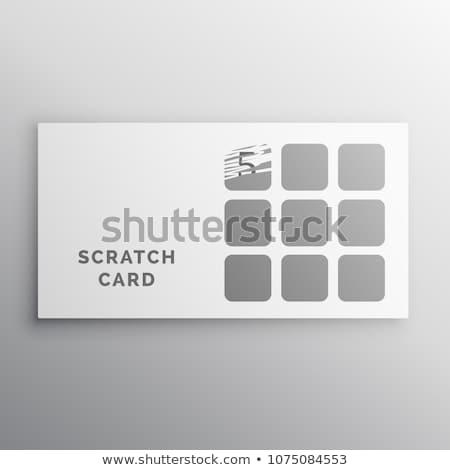 スクラッチ カード ベクトル テンプレート ウェブ ストックフォト © SArts