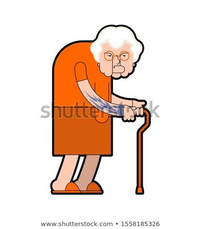 Stock foto: Großmutter · Gefangener · Kriminalität · Oma · Gangster · orange