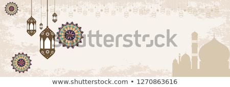 beautiful eid mubarak banner or header design Stock photo © SArts