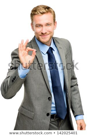 Hand Businessman Okay Sign Stock photo © lenm