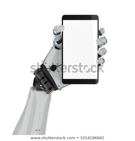 Cyborg el telefon robot yapay zeka Stok fotoğraf © MaryValery