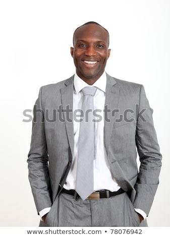Gray Suit Businessman_relax Stock photo © toyotoyo