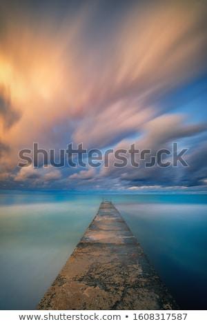 longa · exposição · mar · rochas · crepúsculo · marinha · ondas - foto stock © juhku