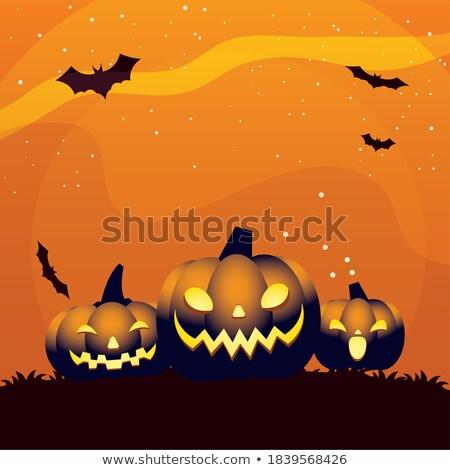 Halloween bate imagen dulces otono cerca Foto stock © clairev