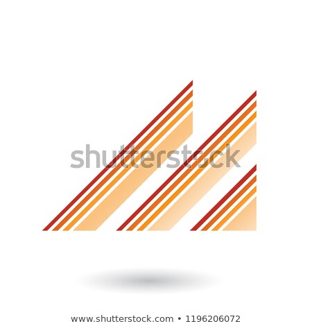 red and orange letter m with diagonal retro stripes vector illus stock photo © cidepix