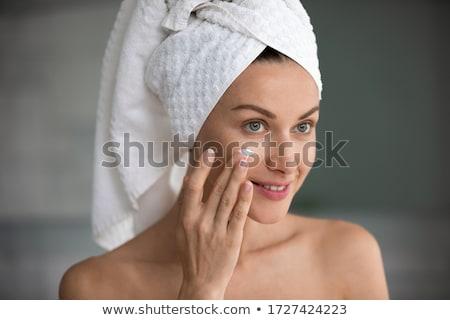 Güzel kadın portre yüz gözler güzellik tıp Stok fotoğraf © Nobilior
