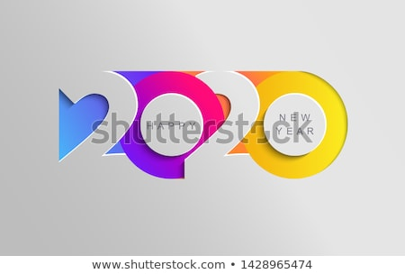 New Year - modern vector paper cut illustration Stock photo © Decorwithme