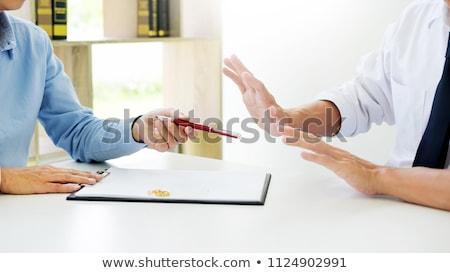 divórcio · anel · de · casamento · gabela · madeira · carta - foto stock © snowing