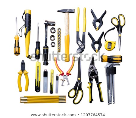 Elevated View Of Various Construction Tools Stock photo © AndreyPopov