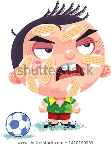 Menino ferido futebol ilustração futebol médico Foto stock © bluering