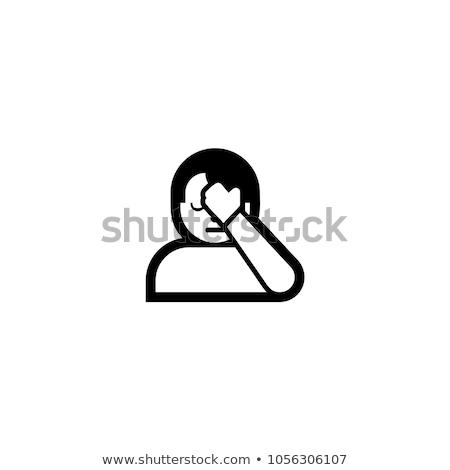 Hand on forehead emoticon Stock photo © yayayoyo