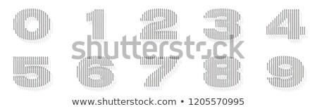 серебро стали проволоки шрифт номера вертикальный Сток-фото © djmilic
