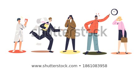 Man Angry about Being Late Vector Illustration Stock photo © robuart