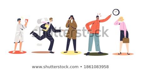 несчастный · нервный · бизнесмен · вектора · кричали · мужчины - Сток-фото © robuart