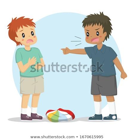 Diák megfélemlítés barát illusztráció gyerekek fiú Stock fotó © artisticco