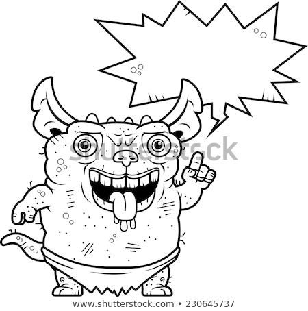 уродливые говорить Cartoon иллюстрация графических Идея Сток-фото © cthoman