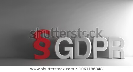 Red paragraph sign and white word GDPR  Stock photo © Oakozhan