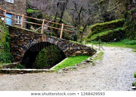 mountains village view portugal stock photo © joyr