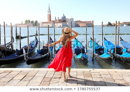 Moored gondolas in the morning Stock photo © Givaga