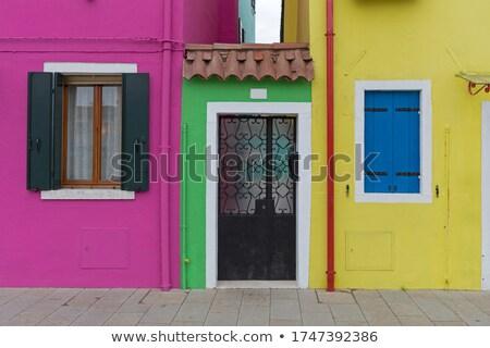 színes · épület · LA · környék · történelmi · központ - stock fotó © givaga