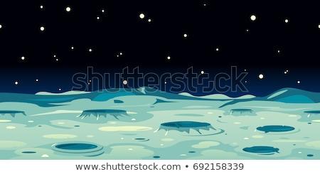 maan · oppervlak · illustratie · cartoon · Galaxy · melkachtig - stockfoto © colematt