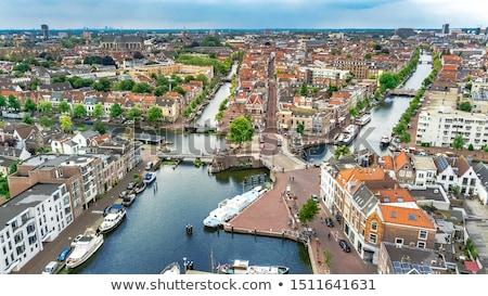 Holanda pequeno pedestre rua bicicleta histórico Foto stock © neirfy