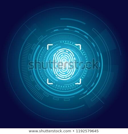 Identificação impressão digital cartaz digital fundo tela Foto stock © robuart