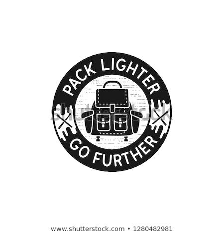 旅行 ヴィンテージ ロゴ パック ライター 引用 ストックフォト © JeksonGraphics