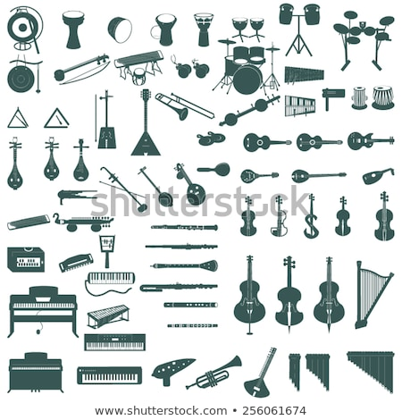 Electronic Guitar Musical Instrument Icon Vector Stock photo © robuart