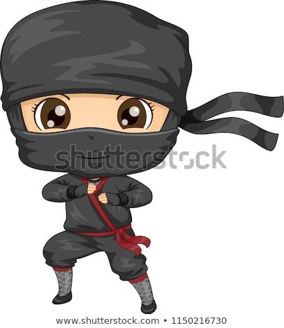 desenho · animado · ninja · projeto · arte · retro · engraçado - foto stock © cthoman
