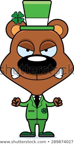 Cartoon сердиться ирландский несут глядя Сток-фото © cthoman