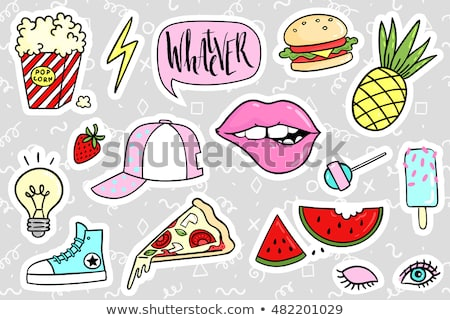 sticker patch set collection stock photo © frescomovie