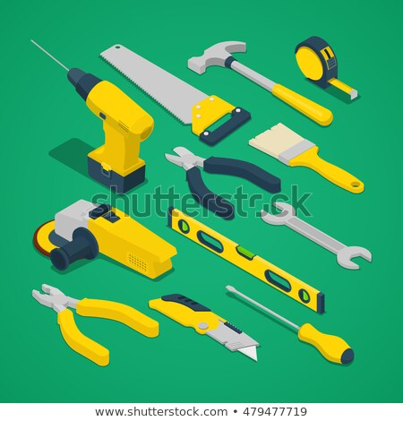 Csináld magad javítás vektor izometrikus illusztráció üzletember Stock fotó © RAStudio