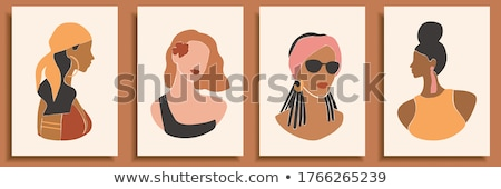 Tanning and Hair Styling Style Posters Set Vector Stock photo © robuart