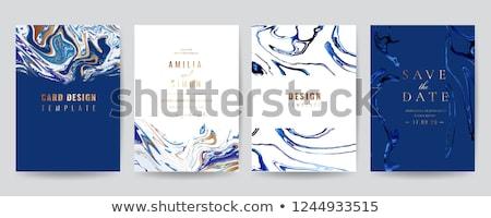 элегантный синий мрамор текстуры визитной карточкой дизайна Сток-фото © SArts