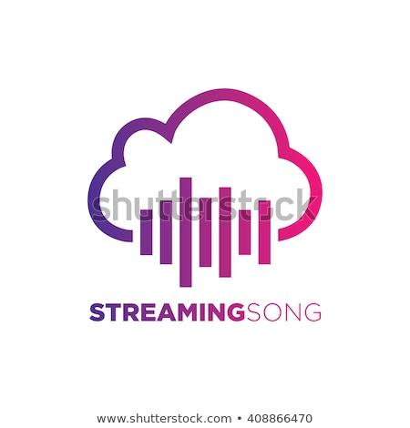 streaming · muziek · icon · illustratie · kan · gebruikt - stockfoto © kyryloff