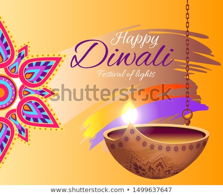 happy diwali festival of lights 2018 banner stock photo © robuart