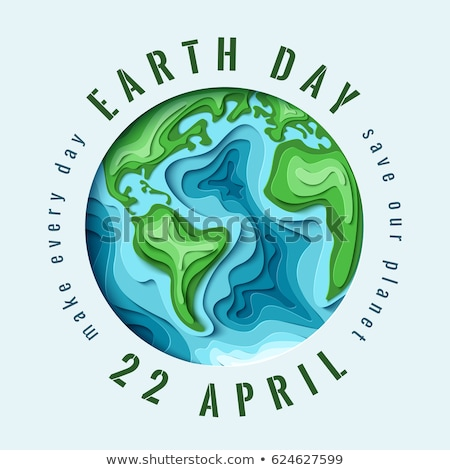 Día de la tierra ilustración papel corte mapa del mundo internacional Foto stock © cienpies