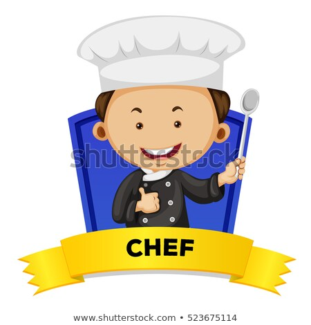 Bezetting mannelijke chef illustratie werk achtergrond Stockfoto © colematt