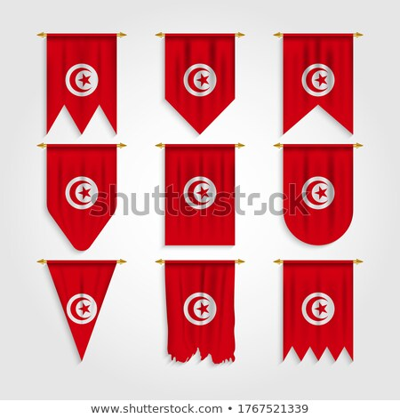 Tunisia Various Shapes Vector National Flags Set Stock photo © pikepicture