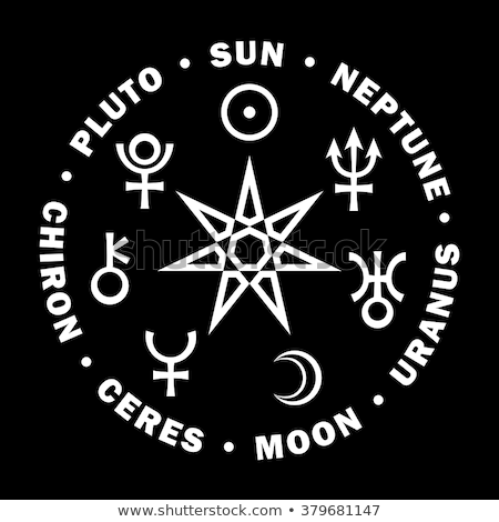 ősi · csillag · hét · bolygók · asztrológia · középkori - stock fotó © glasaigh