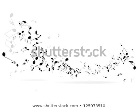 music notes banner Stock photo © alexaldo